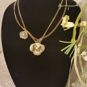 Authentic Swarovski Limelight Flower Necklace